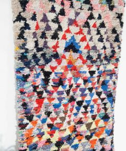 3×8 Alernas Boucherouite rug, The Psychedelic tapestry of Morocco