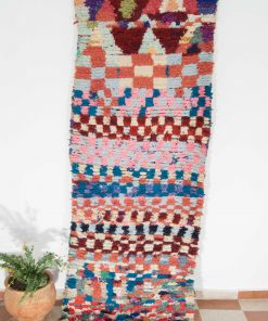 3×8 AlesBoucherouite rug, The Psychedelic tapestry of Moroccan rugs.