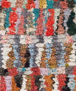 3×5 Adgum Boucherouite rug, The Psychedelic tapestry of Moroccan rugs.