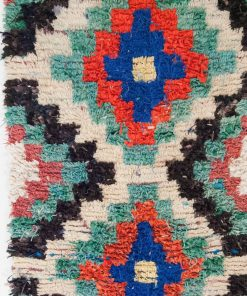 3×6 Adi Boucherouite rug, The Psychedelic tapestry of Moroccan rugs.