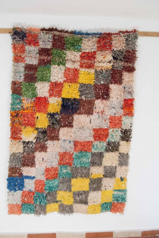 4×6 Afaw Boucherouite rug, The Psychedelic tapestry of Moroccan rugs.