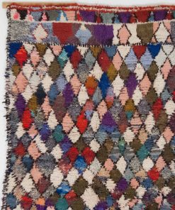 4×6 AferAfennis Boucherouite rug, The Psychedelic tapestry of Moroccan rugs.