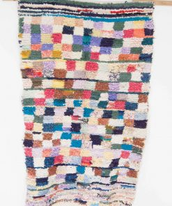 4×6 Afalawas Boucherouite rug, The Psychedelic tapestry of Moroccan rugs.
