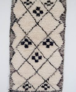 sold out 2×4 AtanawsuBeni ourain rug , The Authentic Black and White rug, The Moroccan Minimalist Berber White Area rug