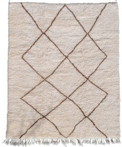 Beni ourain rug , The Authentic white and brown rug, The Moroccan rug 292 x 236 cm / 9.3 x 7.6 ft