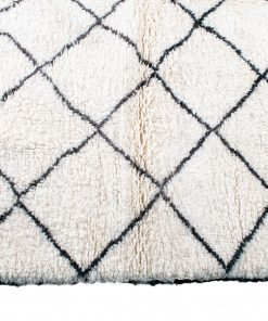 Beni ourain rug , The Authentic white and black rug, The Moroccan rug 203 x 206 cm / 6.5 x 6.6 ft