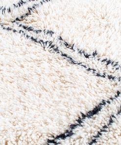 Beni ourain rug , The Authentic white and black rug, The Moroccan rug 183 x 138 cm / 5.9 x 4.4 ft