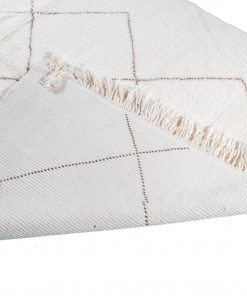 Beni ourain rug , The Authentic white and brown rug, The Moroccan rug 248 x 197cm / 7.9 x 6.3 ft