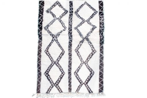 Beni ourain rug , The Authentic white and black rug, The Moroccan rug 213 x 153 cm / 6.8 x 4.9 ft
