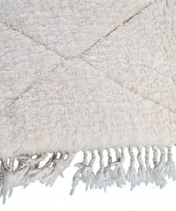 Beni ourain rug , The Authentic white rug, The Moroccan rug 200 x 146 cm / 6.4 x 4.7 ft