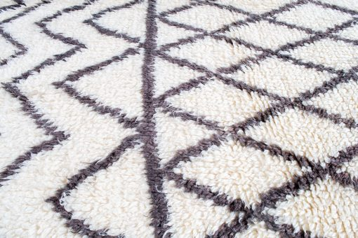 Beni ourain rug , The Authentic white and black rug, The Moroccan rug 297 x 188 cm / 9.5 x 6 ft
