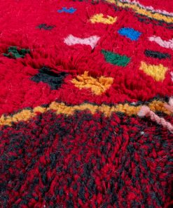 Red Modern Moroccan Rug contemporary art 179 x 156 cm / 5.7 x 5 ft