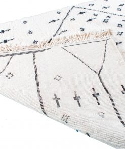Beni ourain rug , The Authentic white and black rug, The Moroccan rug 242 x 179 cm / 7.7 x 5.7 ft
