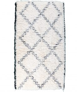 Beni ourain rug , The Authentic white and black rug, The Moroccan rug 185 x 115 cm / 5.9 x 3.7 ft