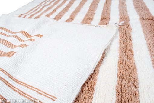 white and brown Modern Moroccan Rug contemporary 290 x 230 cm / 9.3 x 7.4 ft
