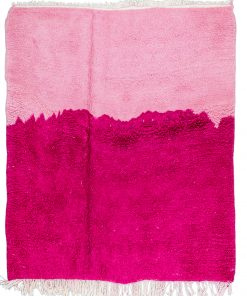 pink Modern Moroccan Rug contemporary 159 x 155 cm / 5.1 x 5 ft
