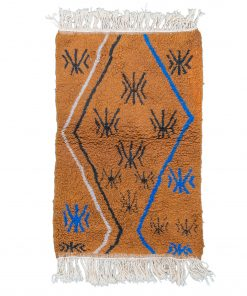 brown Modern Moroccan Rug contemporary 143 x 97 cm / 4.6 x 3.1 ft