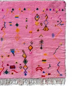 Pink Modern Moroccan Rug contemporary art 200 x 152 cm / 6.4 x 4.9 ft