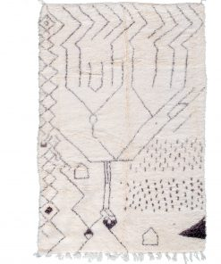 Beni ourain rug , The Authentic Black and white rug, The Moroccan rug 330×194 cm / 10.6 x 6.2 ft