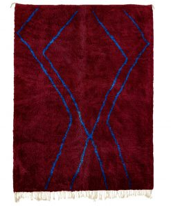 red Modern Moroccan Rug contemporary art