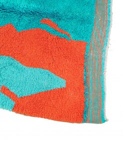 Turquoise Modern Moroccan Rug contemporary art